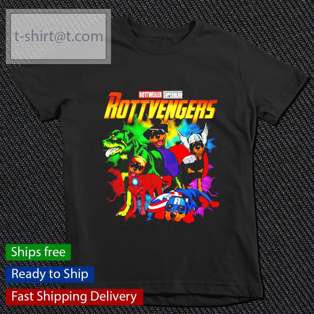 Avenger Rottweiler Superhero Rottvenger youth-tee
