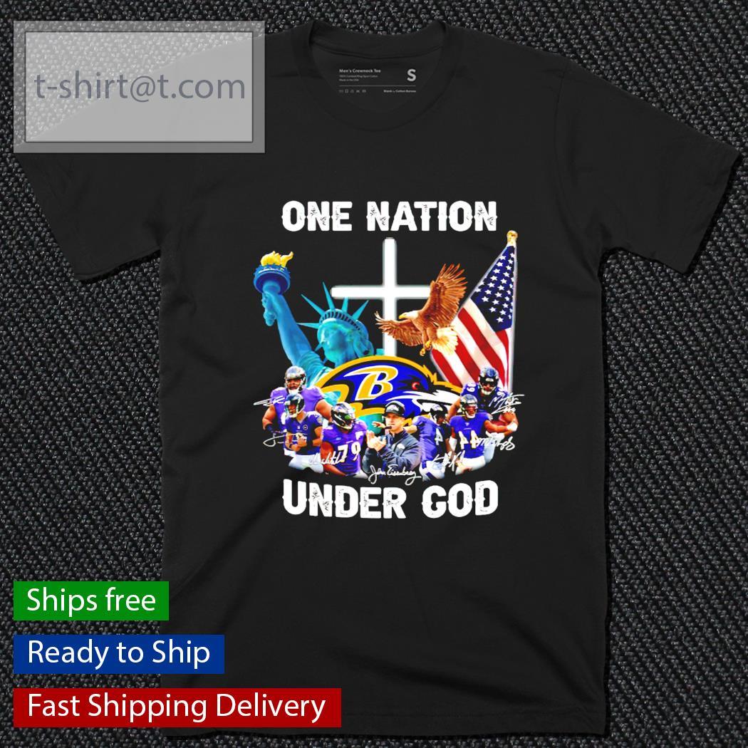 Baltimore Ravens one nation under god signature shirt