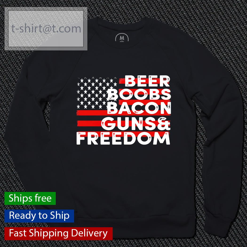 Beer boobs bacon guns and freedom sweater