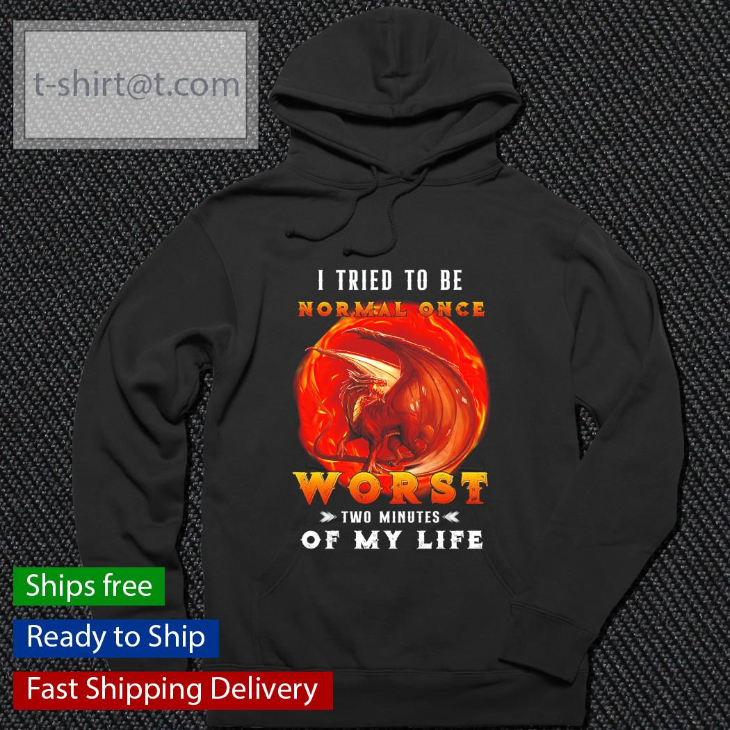 Dragon I tried to be normal once worst two minutes of my life hoodie