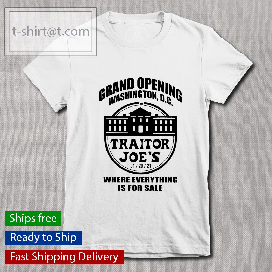 Grand opening Washington DC Traitor Joe's where everything is for sale Ladies-tee
