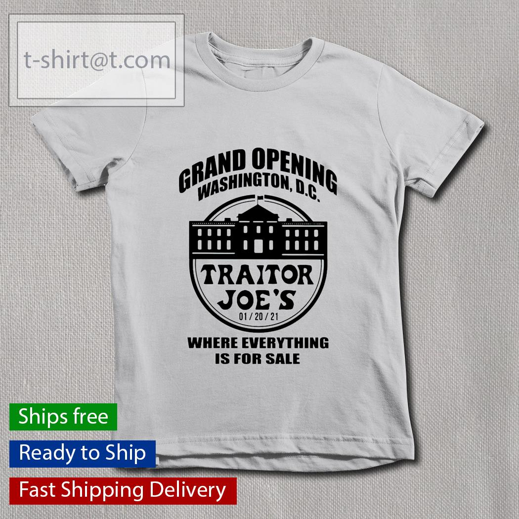 Grand opening Washington DC Traitor Joe's where everything is for sale youth-tee