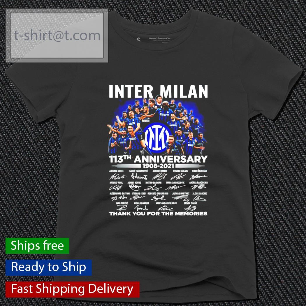 Inter Milan 113th anniversary 1908-2021 signature ladies-tee