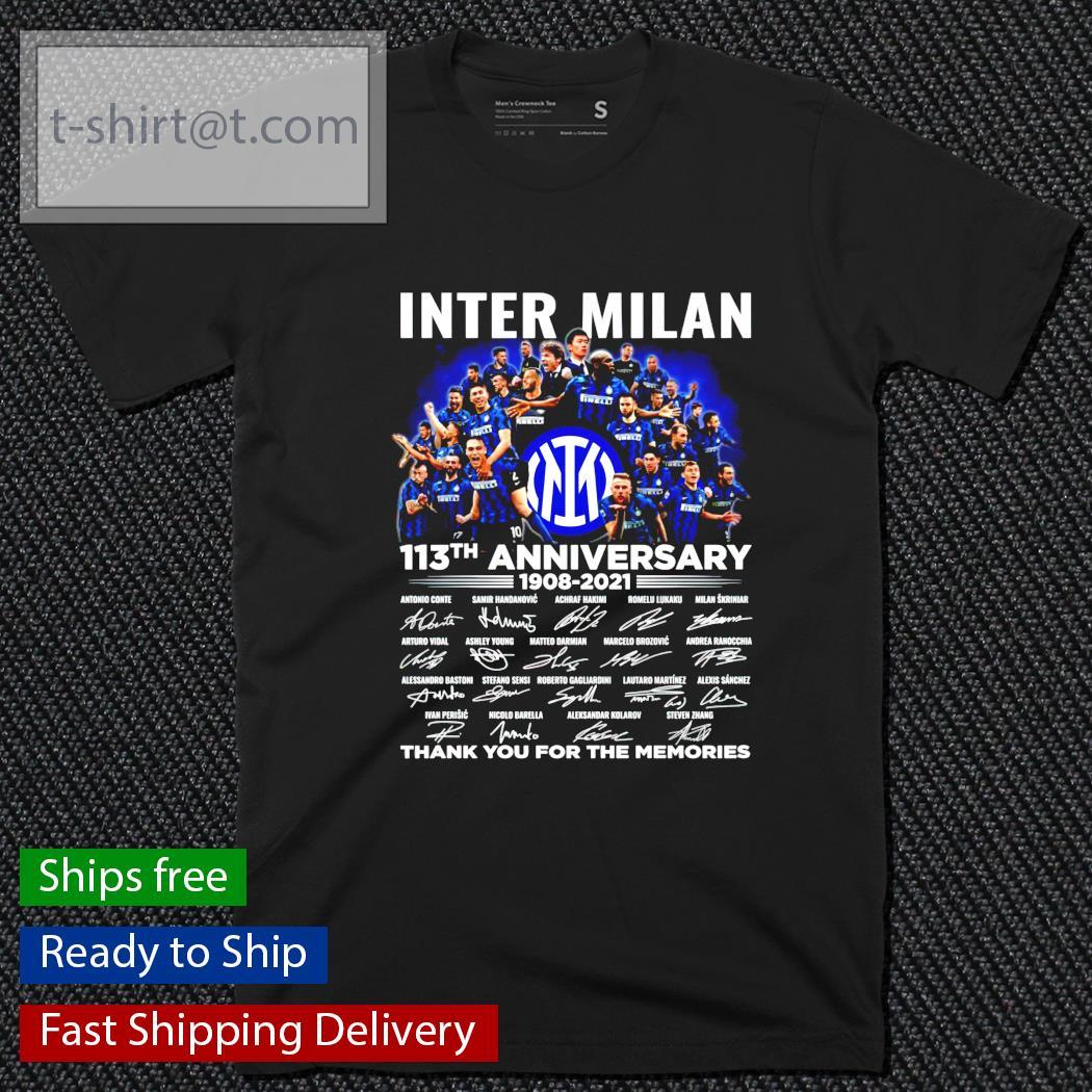 Inter Milan 113th anniversary 1908-2021 signature shirt