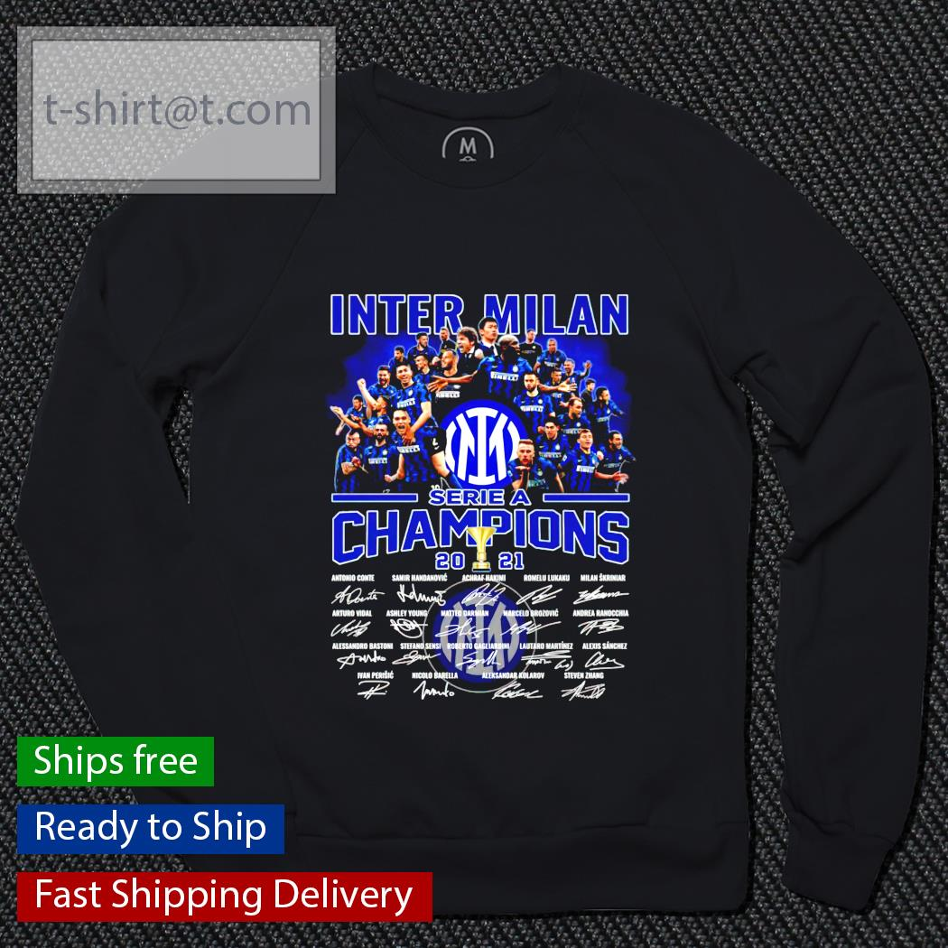 Inter Milan Serie A Champions 2021 signature sweater