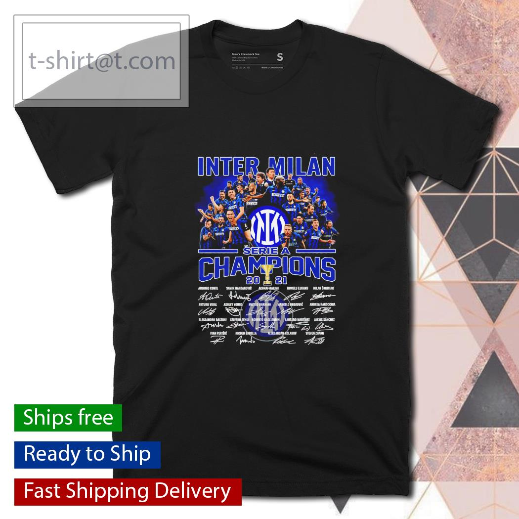 Inter Milan Serie A Champions 2021 signatures shirt