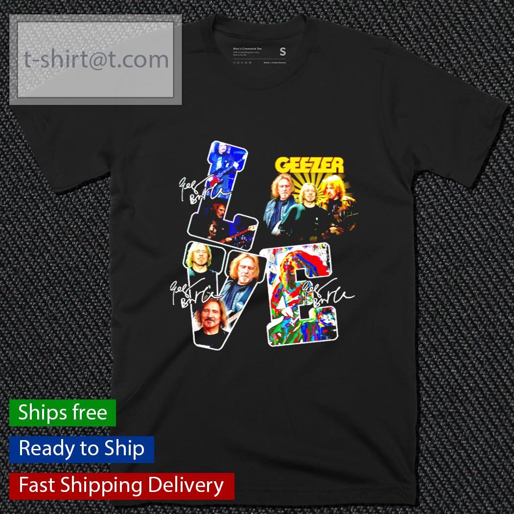Love Geezer band music signature shirt