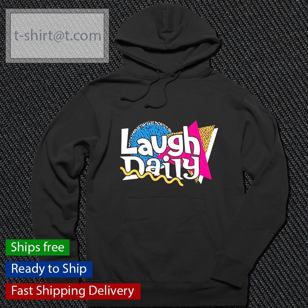 Morejstu merch jstu retro laugh daily hoodie