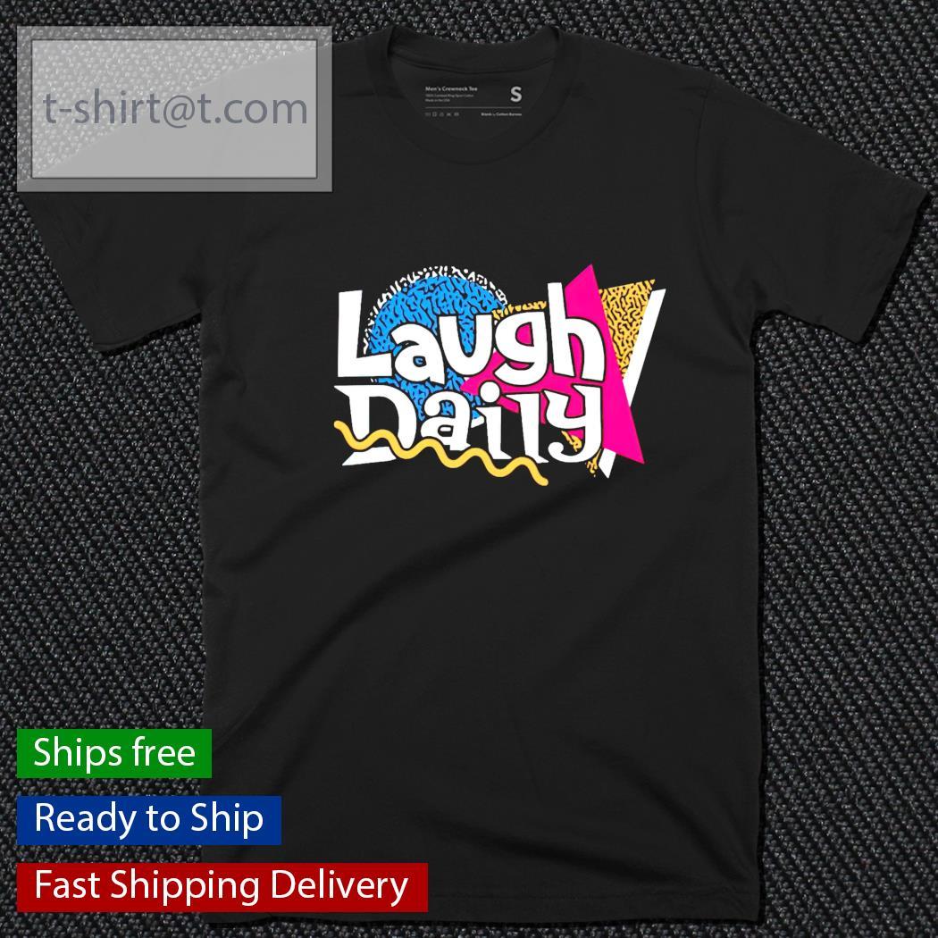 Morejstu merch jstu retro laugh daily shirt