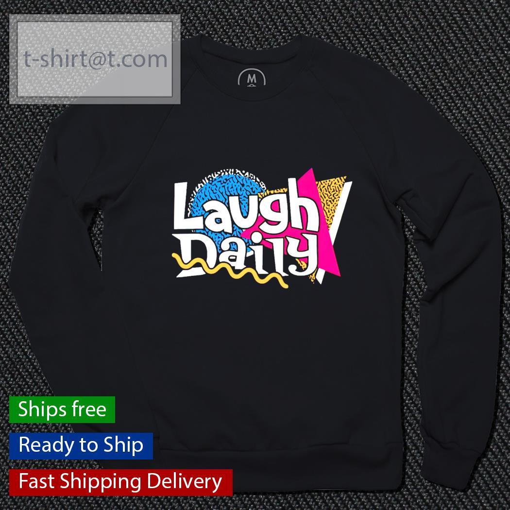 Morejstu merch jstu retro laugh daily sweater
