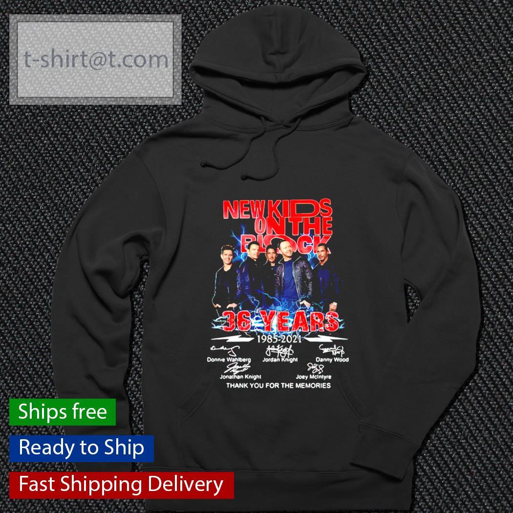 New Kids On The Block 36 years 1985-2021 signature hoodie