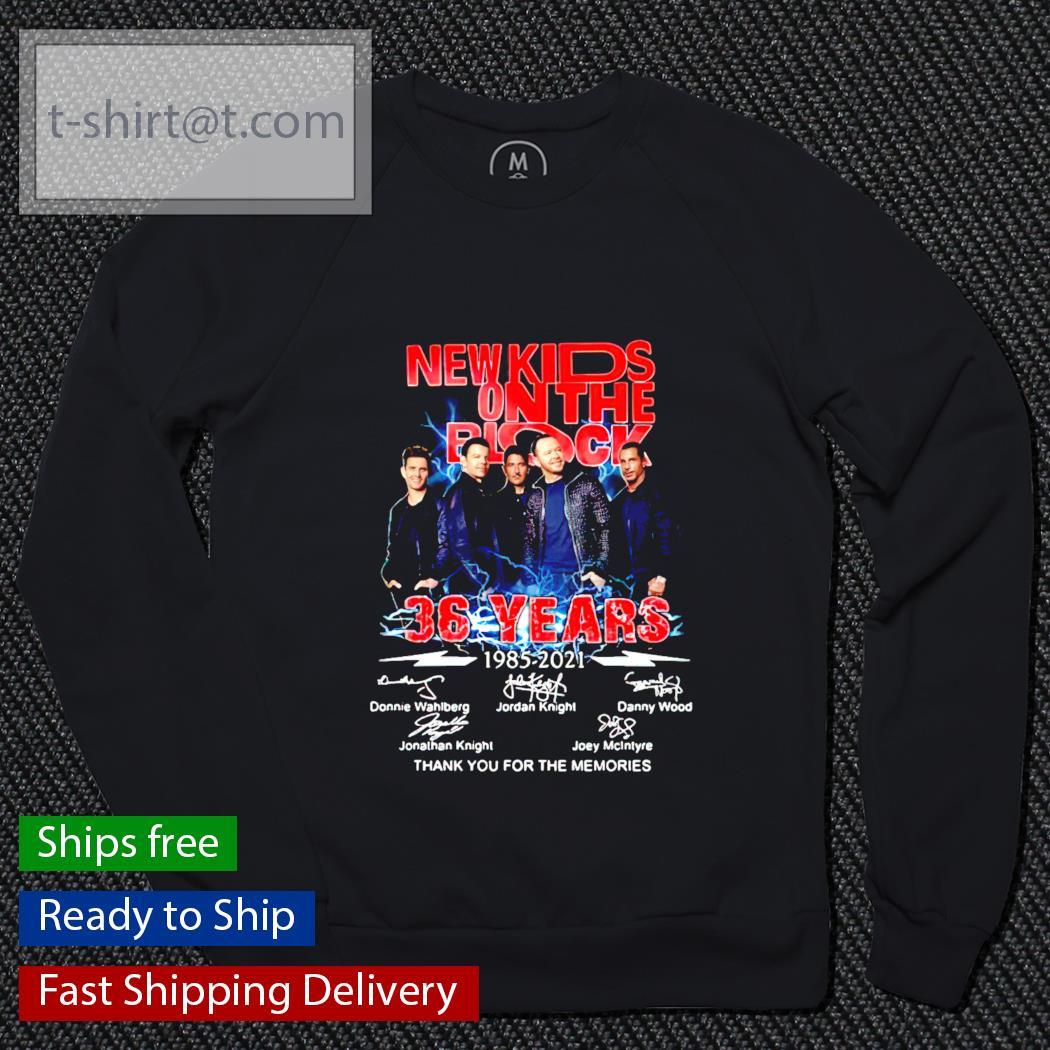 New Kids On The Block 36 years 1985-2021 signature sweater