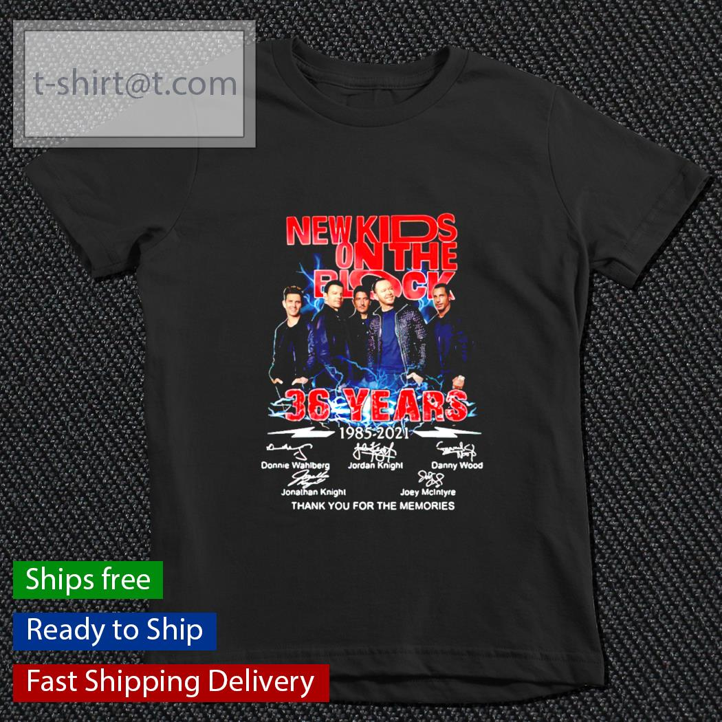 New Kids On The Block 36 years 1985-2021 signature youth-tee
