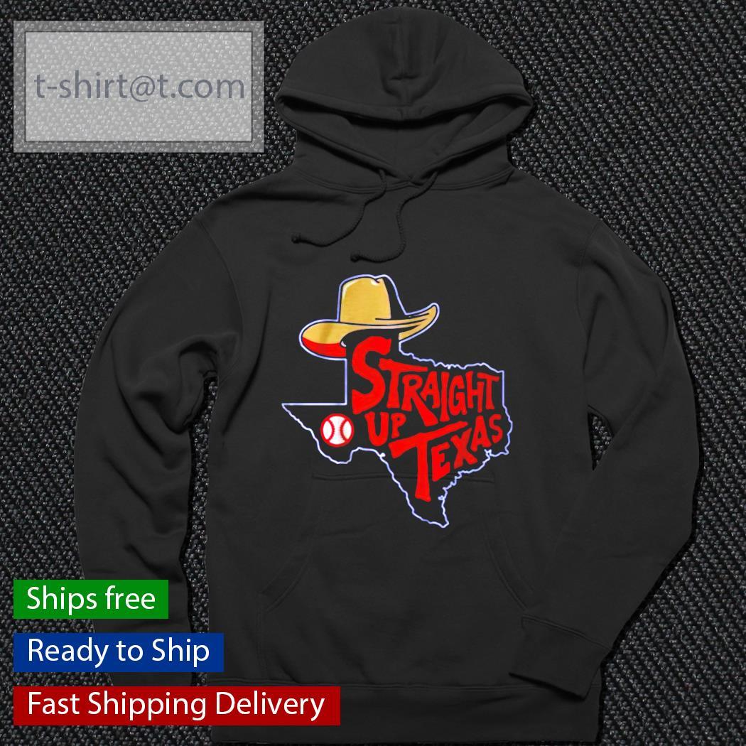 Straight up Texas baseball t-s hoodie