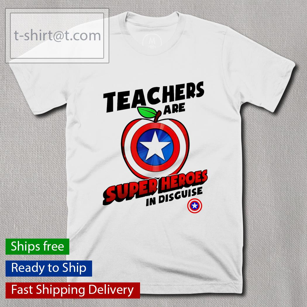 teachers are apple Captain America Super Heroes in disguise shirt