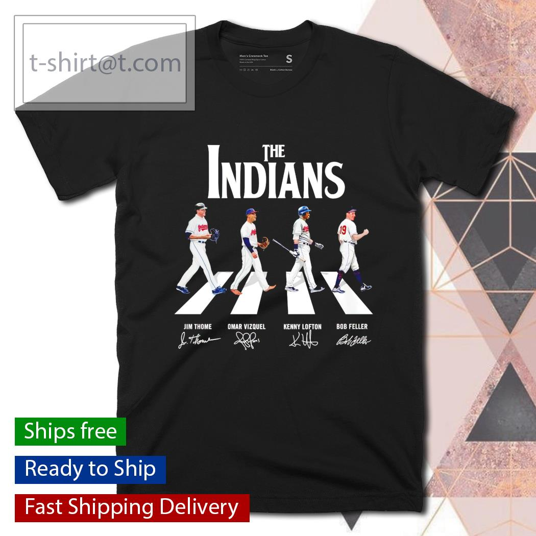 The Indians Abbey Road signatures T-shirt