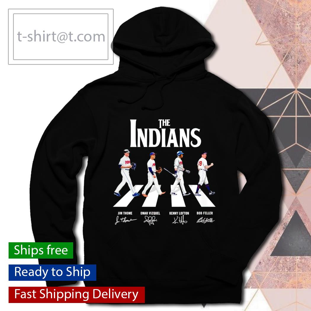 The Indians Abbey Road signatures T-s hoodie
