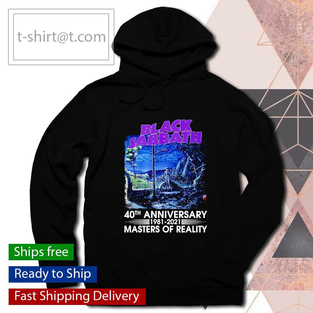 Black Sabbath 40th anniversary 1981 2021 Masters of Reality hoodie