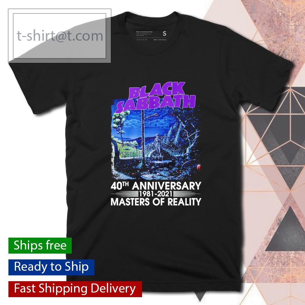 Black Sabbath 40th anniversary 1981 2021 Masters of Reality shirt