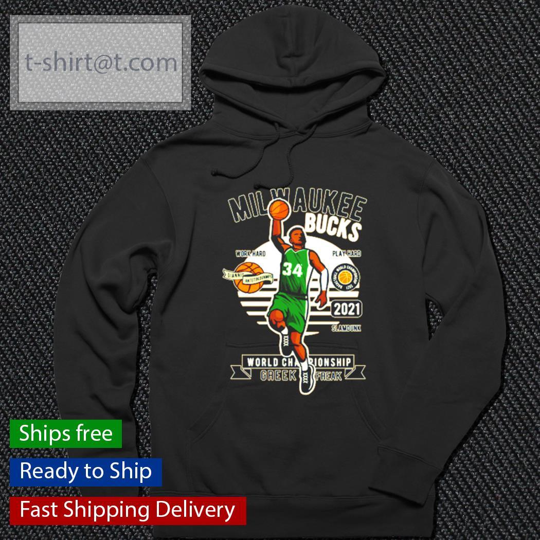 Giannis Antetokounmpo Milwaukee Bucks World Championship shirt