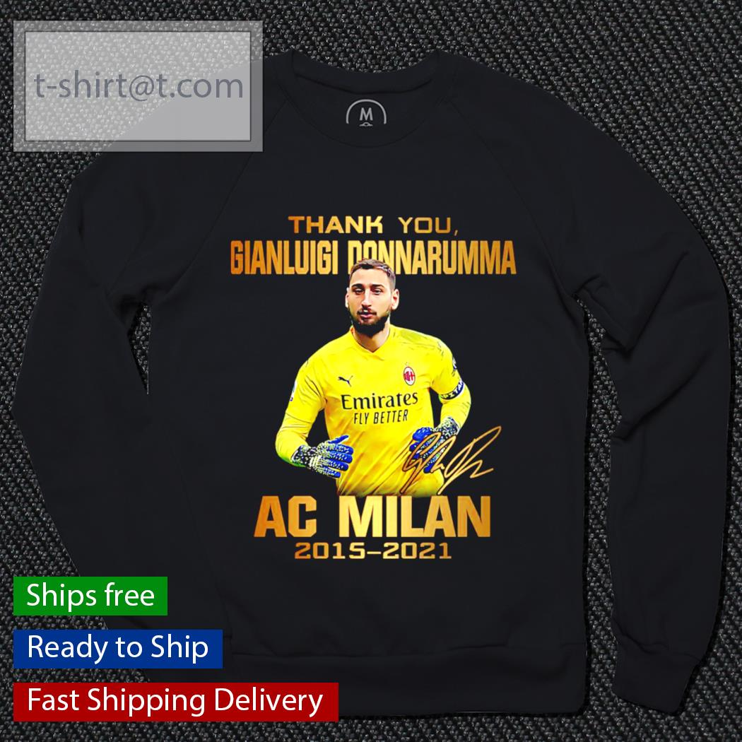 Thank you Gianluigi Donnarumma AC Milan 2015-2021 signature t-shirt