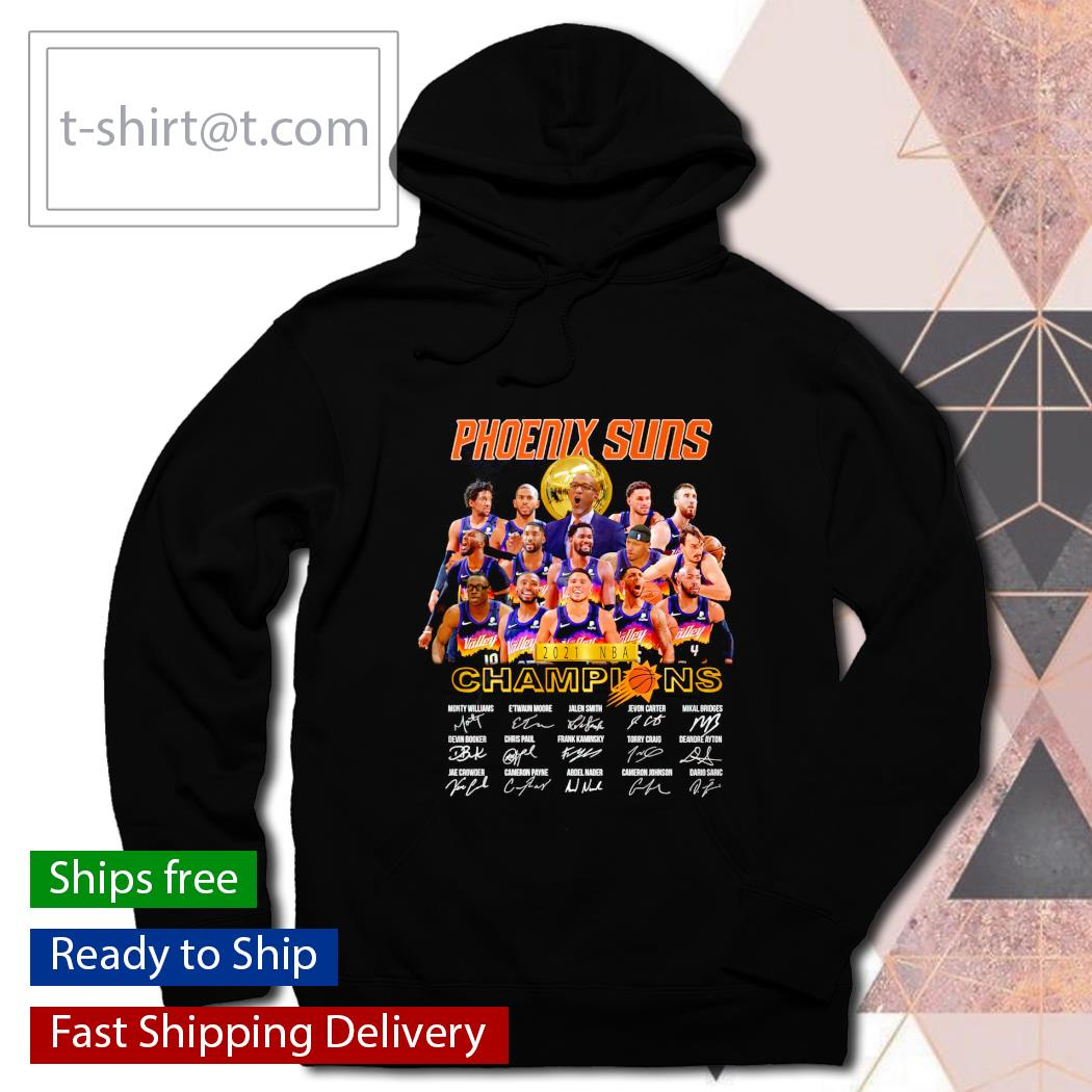 Phoenix Suns 2021 NBA Champions signatures players hoodie