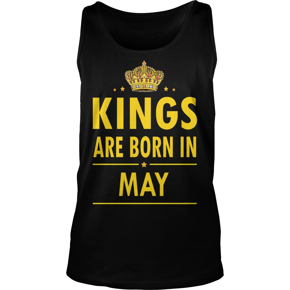 Kings Are Born In May Unisex Tank Top