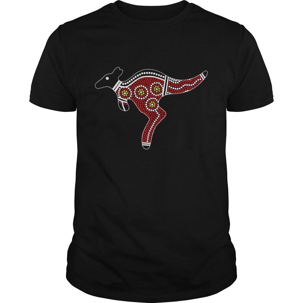 Aboriginal Art Kangaroo Shirt