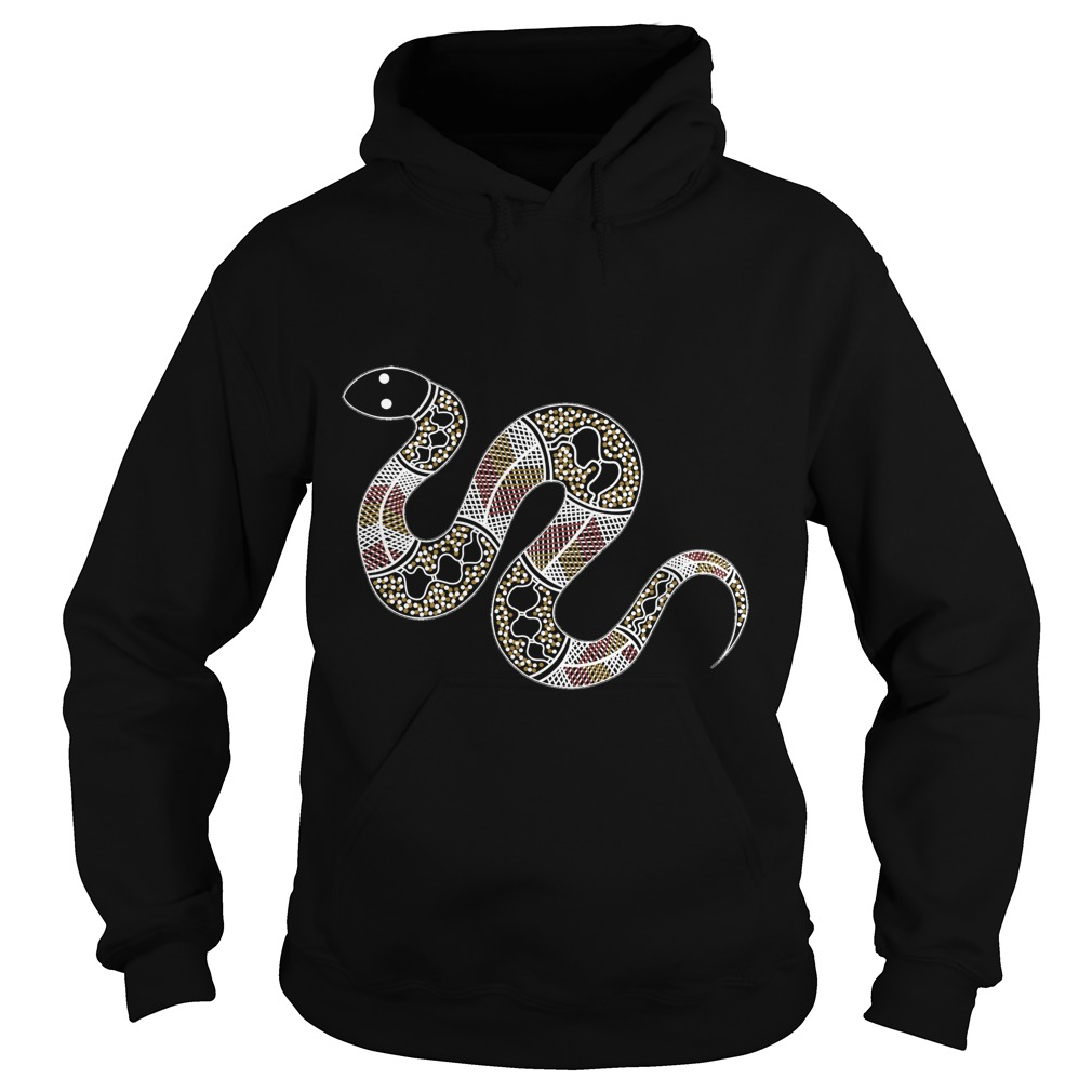 Authentic Aboriginal Art Snake Hoodie