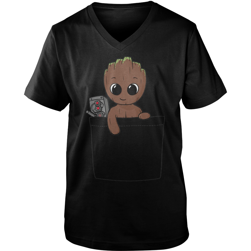 Baby Groot Guys V Neck