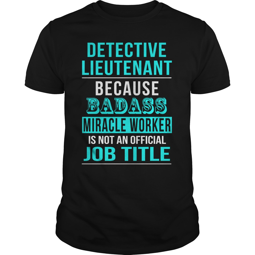 Detective Lieutenant Shirt