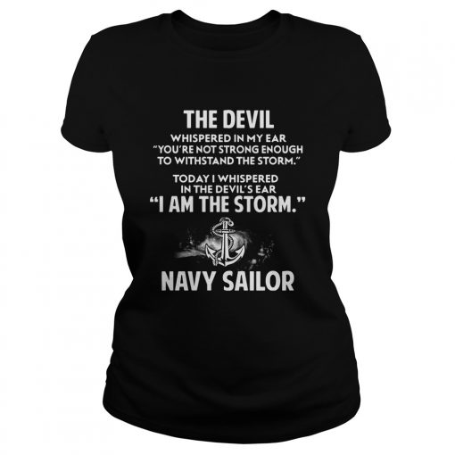 Devil Storm Navy Sailor Ladies Tee