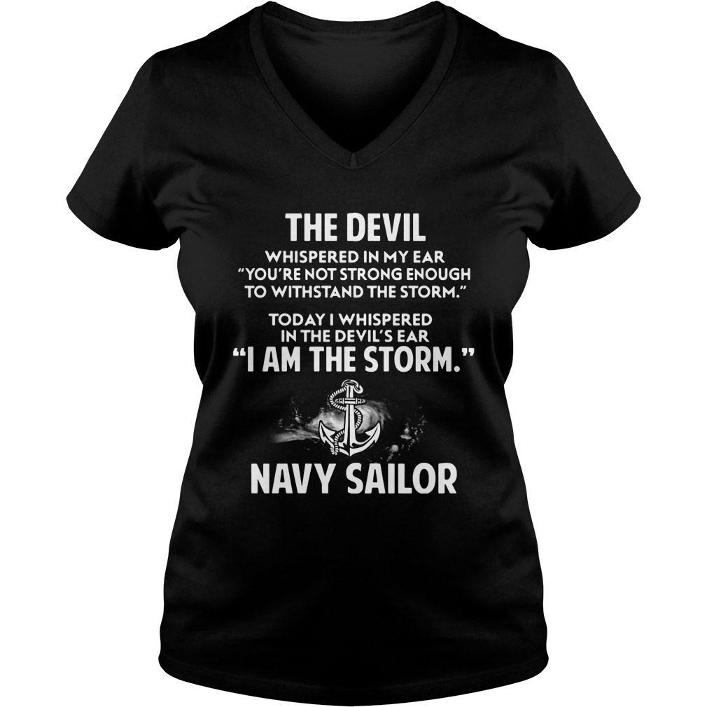 Devil Storm Navy Sailor Ladies V Neck