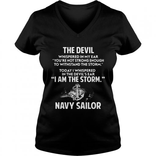 Devil Storm Navy Sailor Ladies V Neck
