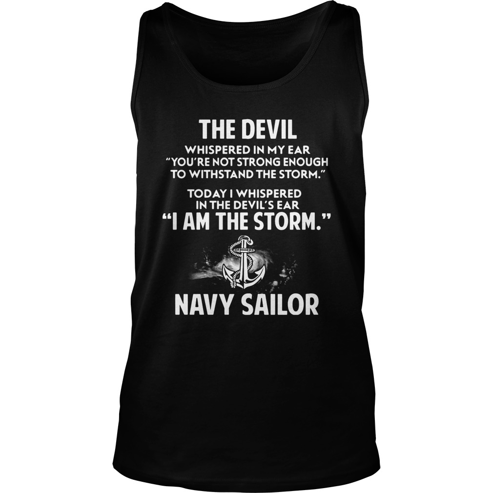 Devil Storm Navy Sailor Tank Top
