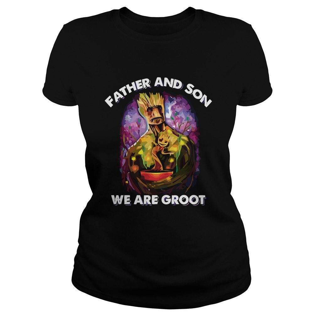 Father Son Groot Ladies Shirt