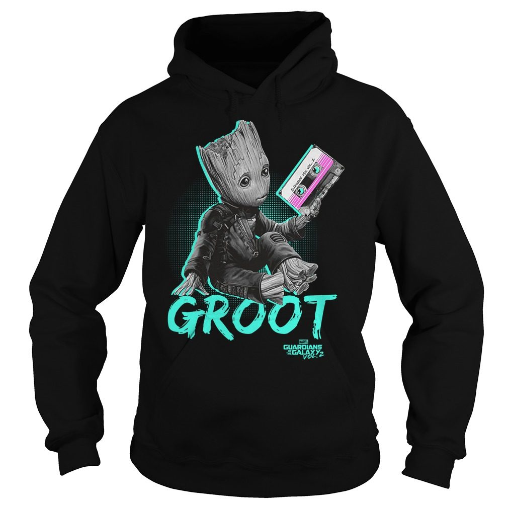 Groot Guardians Galaxy 2 Mix Tape Graphic Hoodie