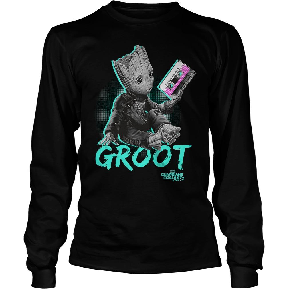 Groot Guardians Galaxy 2 Mix Tape Graphic Longsleeve Shirt