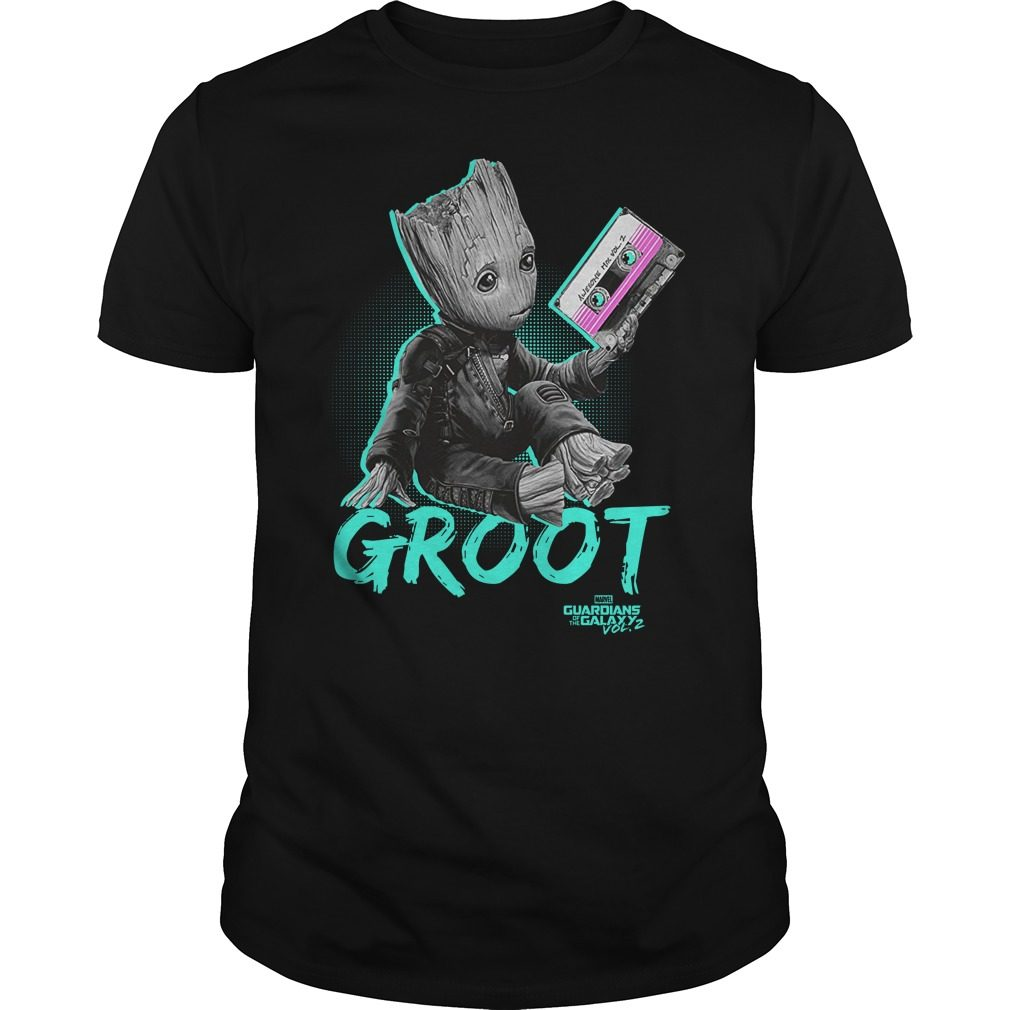 Groot Guardians Galaxy 2 Mix Tape Graphic Shirt