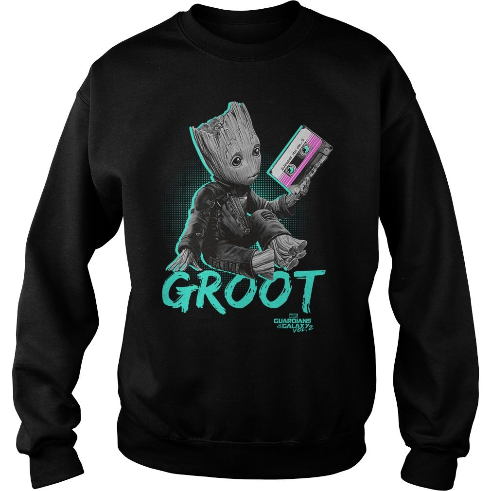 Groot Guardians Galaxy 2 Mix Tape Graphic Sweat Shirt