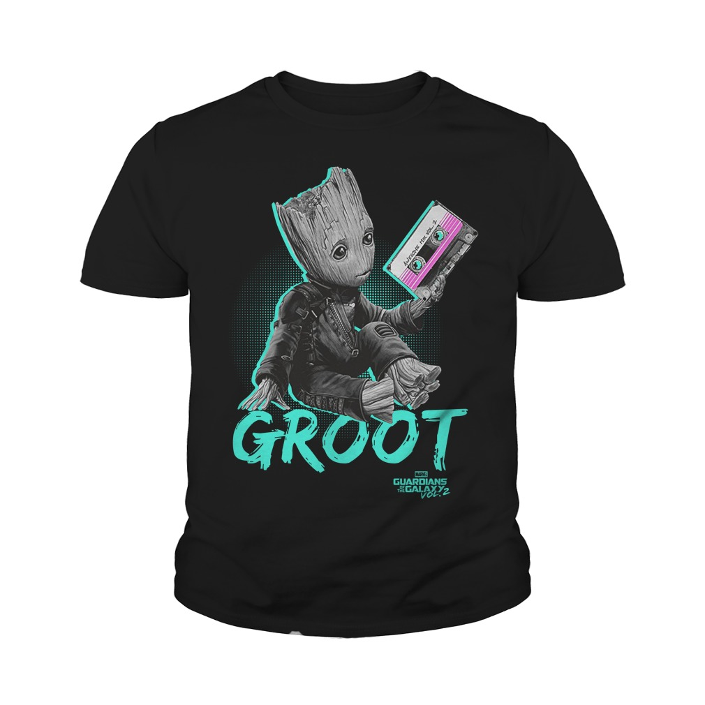 Groot Guardians Galaxy 2 Mix Tape Graphic Youth Shirt