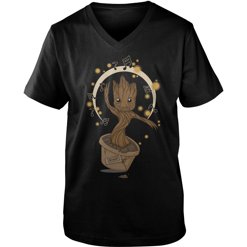 Groovy Baby Groot 2 Guys V Neck