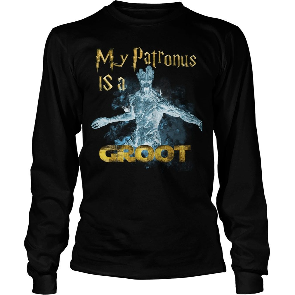 Guardians Galaxy Patronus Groot Longsleeve Shirt