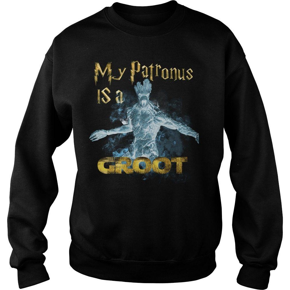 Guardians Galaxy Patronus Groot Sweat Shirt