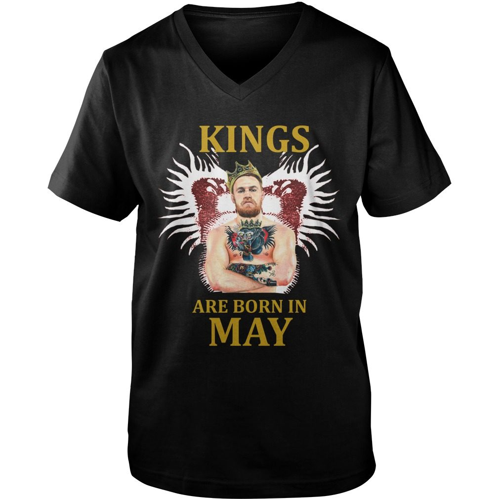 Kings Born May Conor Mcgregor V Neck Tee
