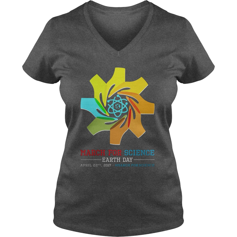 March Science Earth Day Ladies V Neck