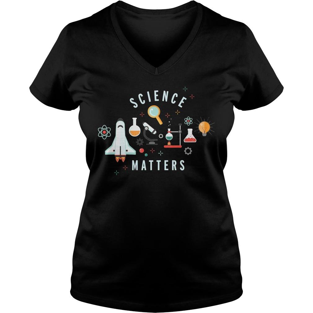 Neil Degrasse Tyson Science Matters V Neck T Shirt