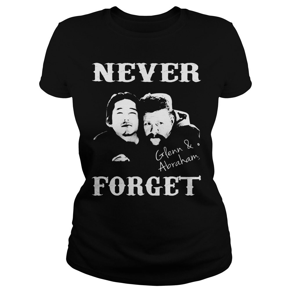 Never Forget Glenn And Abraham Ladies Tee