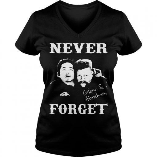 Never Forget Glenn And Abraham V-neck T-shirt
