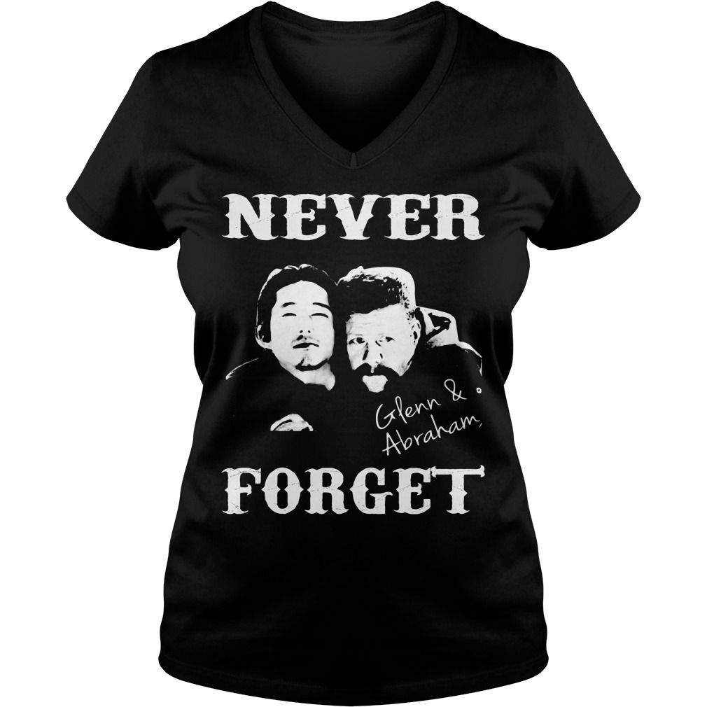 Never Forget Glenn And Abraham V-neck T-shirt
